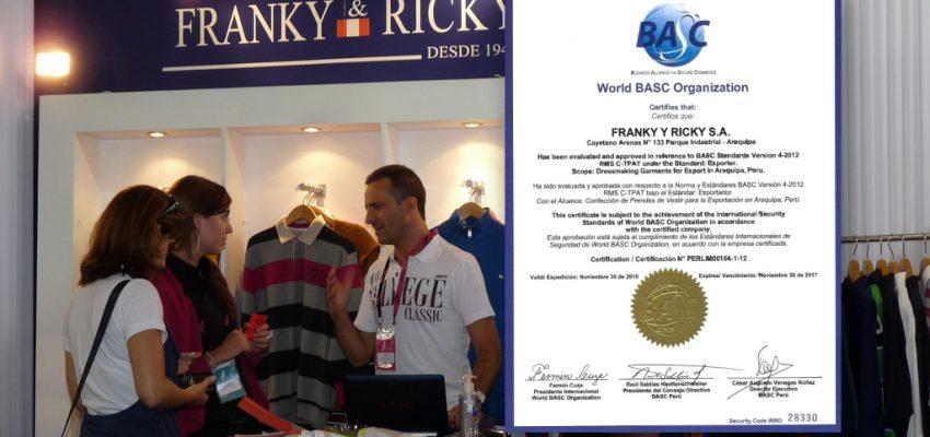 CONTROL Y SEGURIDAD BASC EN FRANKY Y RICKY S.A.